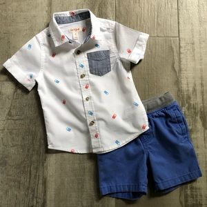 Toddler Boy's Fun Memorial Day Outfit-Size 2T